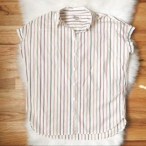 Madewell Central Shirt in Sadie Stripe XS